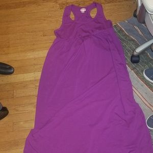 Racerback maxi dress. Beautiful magenta color. EUC